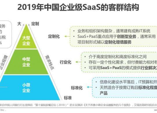 中国企业级SaaS的客群结构、竞争要素及平台化策略